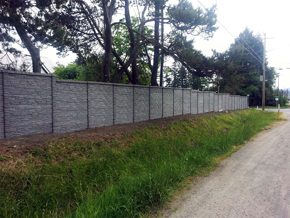 Concrete Fence Material : Concrete fence fabrication installation tower