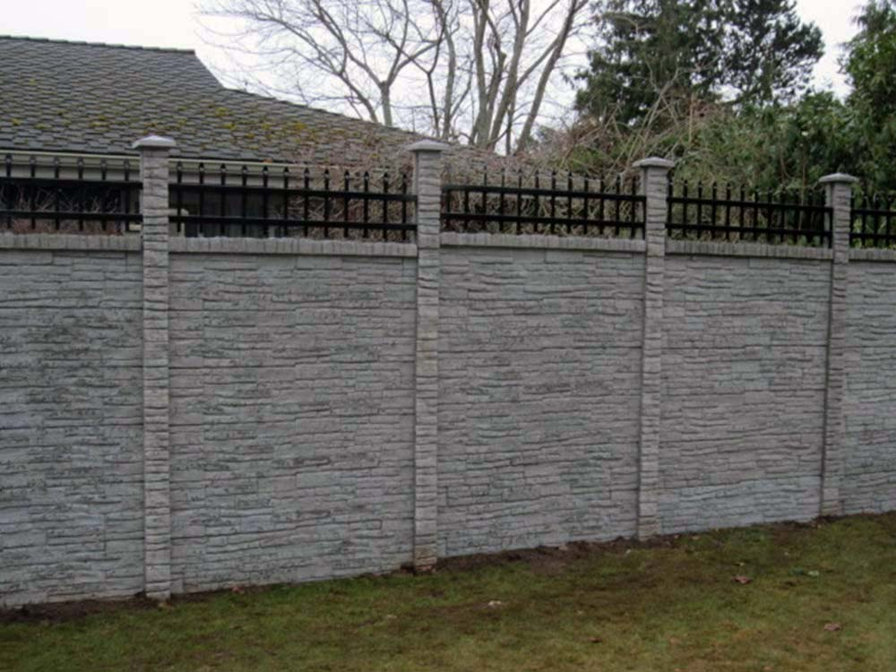 Concrete Fence Material : Concrete fencing tower fence products